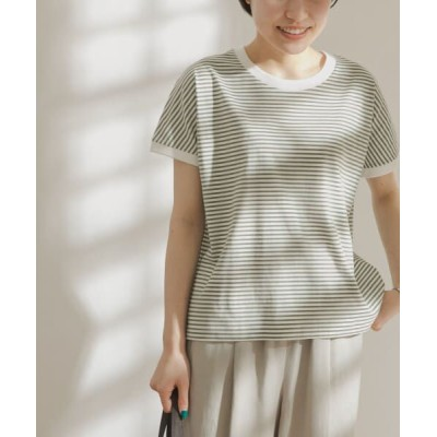 URBAN RESEARCH DOORS/アーバンリサーチ ドアーズ FORK&SPOON ボーダーワイドTシャツ OFFxS.GRN one