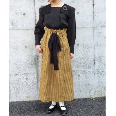 スカート 【数量限定】ストライプロングスカート*