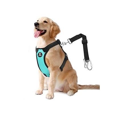 【送料無料】VavoPaw Dog Vehicle Safety Vest Harness, Adjustable Soft Padded Mesh Car Se
