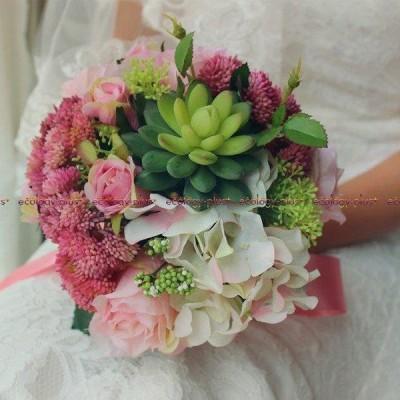 ウエディングブーケ 安い ブートニア 結婚式 ブーケ 造花 ウェディング用 アレンジメント 花嫁 披露宴 手作り ブライダルブーケ