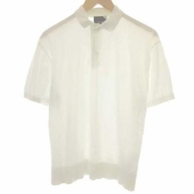 【中古】エイトン ATON 2 M 18SS ポロシャツ コットン 半袖 白 ホワイト /EK  レディース