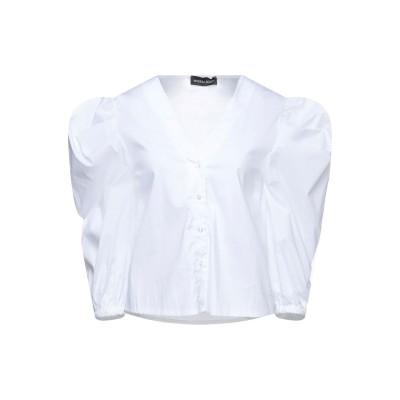 VANESSA SCOTT シャツ ホワイト S コットン 79% / ナイロン 18% / ポリウレタン 3% シャツ