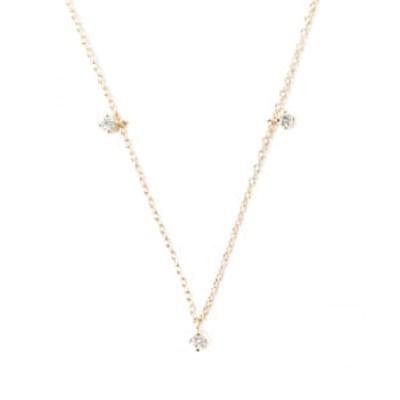 Demi-Luxe BEAMS / ダイヤ 3ドット ネックレス