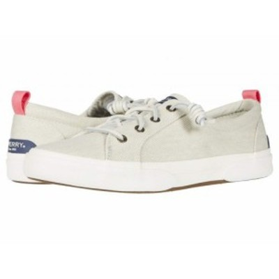 Sperry スペリー レディース 女性用 シューズ 靴 スニーカー 運動靴 Pier Wave LTT White Washed Twill Bone White【送料無料】