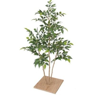 人工観葉植物 造花 業務用 施設 オフィス 店舗 装飾 フェイク グリーン リアル 飾り タカショー / ミニフィカス 板付 80cm /B