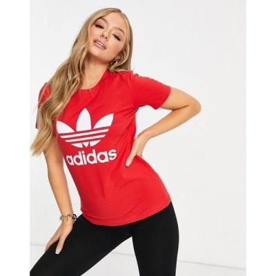 アディダス adidas Originals レディース Tシャツ トップス Logo Tshirt In Red レッド