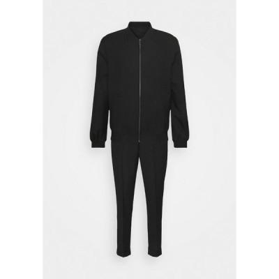 アイザック ディワースト ジャケット&ブルゾン メンズ アウター LIGHTWEIGHT & DRAWCORD TROUSERS - Trousers - black