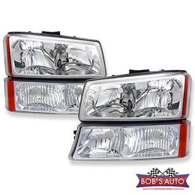車 トラック パーツ ヘッドライト 03-06 シルバード Avalanche {ファクトリー スタイル} クリア ヘッドライト バンパー ライト ペア L+R