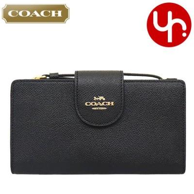 コーチ COACH 財布 長財布 FC2869 C2869 ブラック ラグジュアリー クロスグレーン レザー テック ウォレット アウトレット レディース