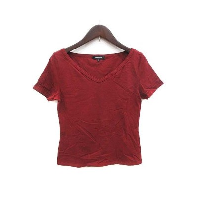 【中古】コムサデモード COMME CA DU MODE カットソー Tシャツ Vネック 半袖 9 赤 レッド /KB レディース 【ベクトル 古着】