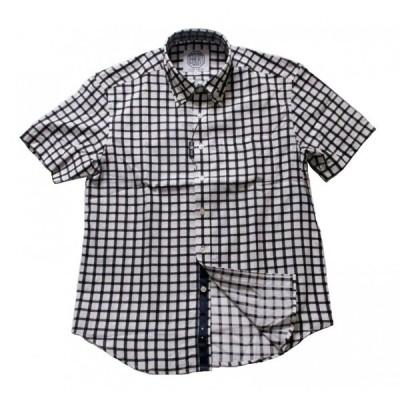 半袖 ボタンダウン カジュアルシャツ 綿100% チェック 【FAIRVALUE】