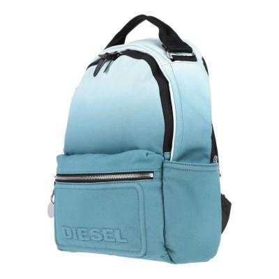 ディーゼル DIESEL バックパック&ヒップバッグ ブルーグレー コットン 90% / ポリウレタン 10% / 亜鉛 / 真鍮/ブラス / 鉄
