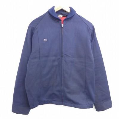 XL/古着 長袖 ワーク ジャケット 80s タロン 紺 ネイビー 20sep25 中古 メンズ アウター ジャンパー ブルゾン