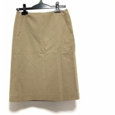 ジルサンダー JILSANDER スカート サイズ34 XS レディース 美品 - ベージュ ひざ丈【中古】20200425