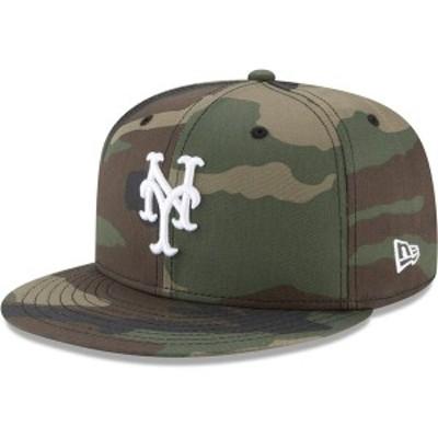 ニューエラ メンズ 帽子 アクセサリー New York Mets New Era Woodland Camo Basic 59FIFTY Fitted Hat Camo