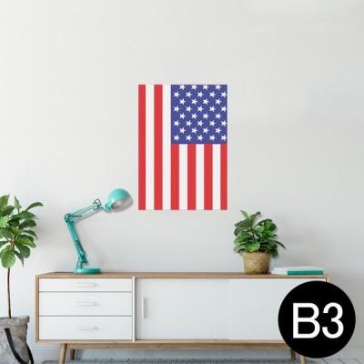 ポスター ウォールステッカー シール式 364×515mm B3 写真 壁 インテリア おしゃれ wall sticker poster アメリカ 国旗 001207