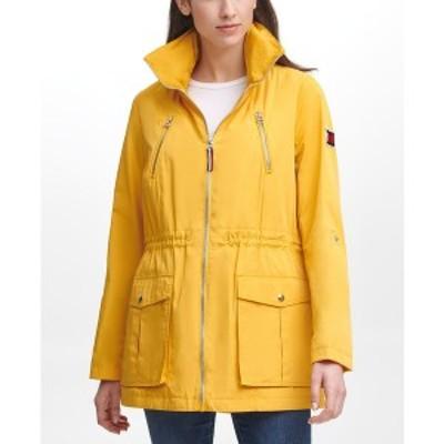 トミー ヒルフィガー レディース コート アウター Women's Roll Tab Anorak Coat Yellow