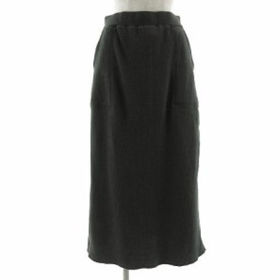 【中古】スタディオクリップ Studio Clip スカート ロング ワッフル地 コットン グレー L レディース