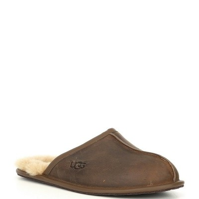アグ メンズ サンダル シューズ UGG Men's Scuff Leather Slipper Tan