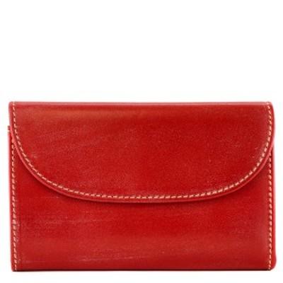Whitehouse Cox ホワイトハウスコックス 三つ折り財布 S1112 男女兼用 ウォレット ブライドルレザー レッド
