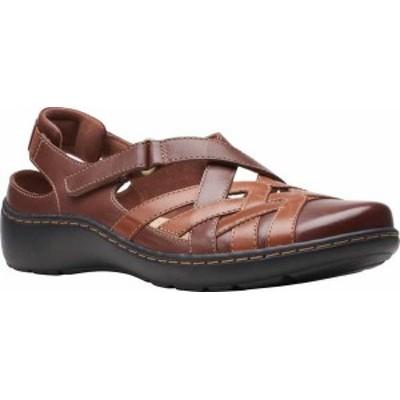 クラークス レディース サンダル シューズ Women's Clarks Cora Dream Closed Toe Sandal Tan Combination Leather