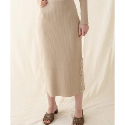 スカート リブニットスカート