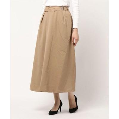 スカート ツイルベルトフレアスカート