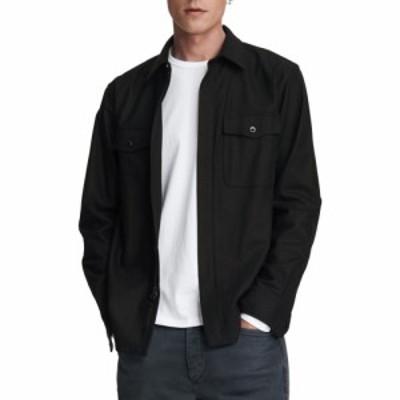 ラグandボーン RAG and BONE メンズ シャツ トップス Jack Zip Up Shirt Black