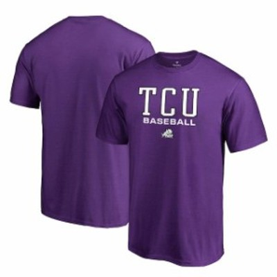 Fanatics Branded ファナティクス ブランド スポーツ用品  Fanatics Branded TCU Horned Frogs Youth Purple True Sport Baseball T-Shir