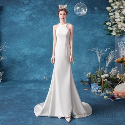 ウェディングドレス マーメイドドレス 白ドレス 花嫁ドレス 肩出し パーティードレス 結婚式 フォーマルドレス ナイトドレス 発表会 演奏会【sssnetshop】