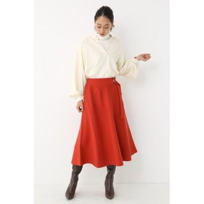 【シェルターセレクト】 ベルテッドニットフレアスカート(Belted Knit Flare Skirt) レディース オレンジ FREE SHEL'TTER SELECT