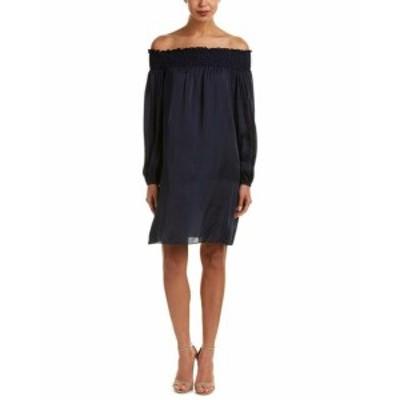BCBGMAXAZRIA BCBG マックスアズリア ファッション ドレス Bcbgmaxazria Off-The-Shoulder Shift Dress Xs Blue