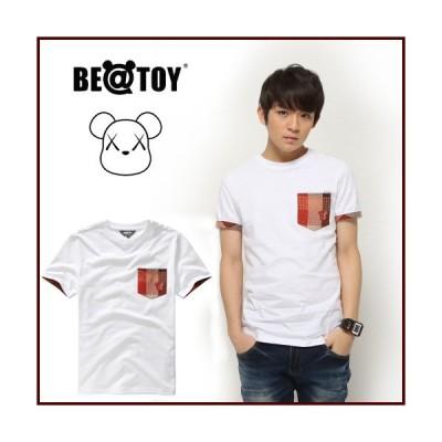 正規品 TEENTOP リッキー RICKY 着用 Boy check_O White BEATOY T-シャツ、T-シャツ、半袖、tシャツ レディース 半袖 ロゴ メンズ