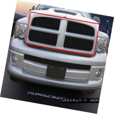 USグリル 02-05ドッジラム1500/2500/3500ブラックビレットグリルグリル2個入りFedar For 02-05 Dodge Ram 1
