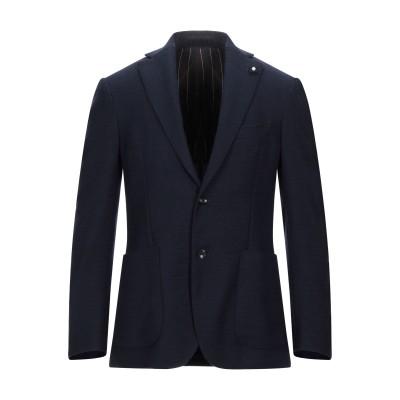 ラルディーニ LARDINI テーラードジャケット ダークブルー 48 ウール 100% テーラードジャケット