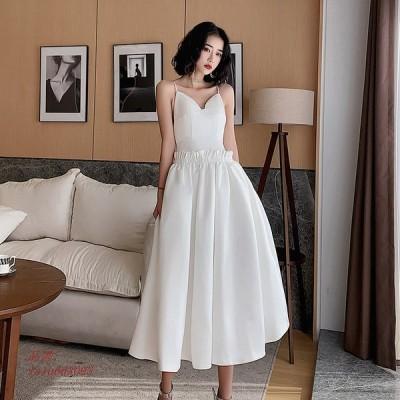 ウェディングドレス ウェディングドレス白 パーティードレス ウエディングドレス エレ簡約 花嫁ロングドレス 挙式 結婚式 二次会 ウエディング