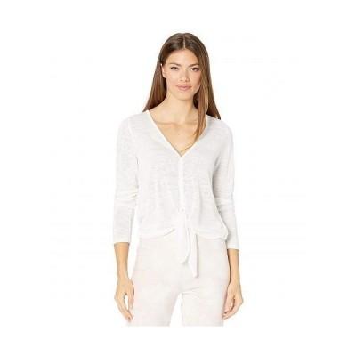Sanctuary サンクチュアリ レディース 女性用 ファッション セーター Chelsea Tie Front Sweater Knit Tee - White
