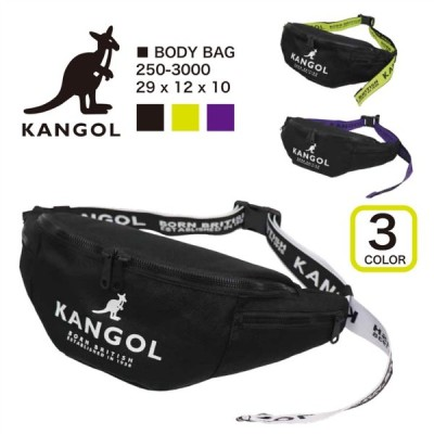 KANGOL( カンゴール) ウエストバッグ ボディバッグ レディース メンズ ブラック カジュアル 250-3000