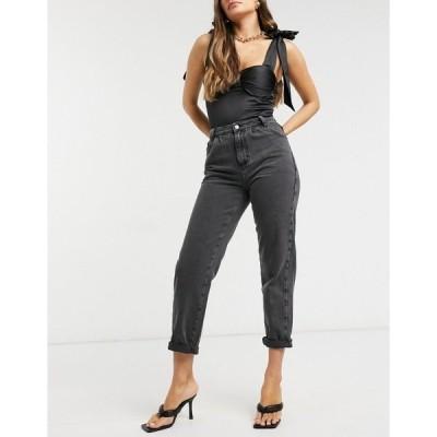 ニュールック レディース デニムパンツ ボトムス New Look balloon leg jeans in black Black