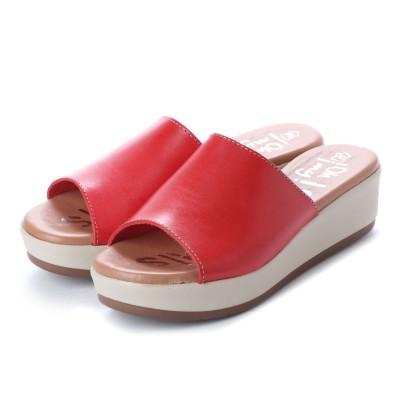 オー マイ サンダルズ Oh my Sandals 【INTER-CHAUSSURES】クッションインソールミュールサンダル (レッド)