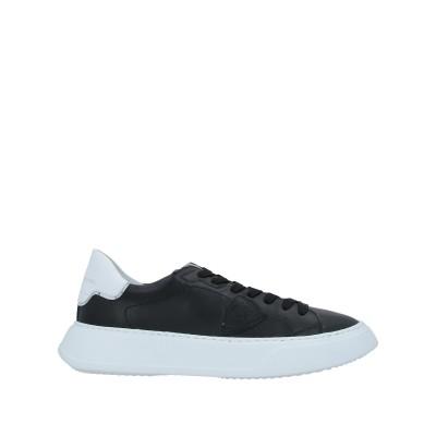 フィリップ モデル PHILIPPE MODEL スニーカー&テニスシューズ(ローカット) ブラック 39 革 / 紡績繊維 スニーカー&テニスシュ
