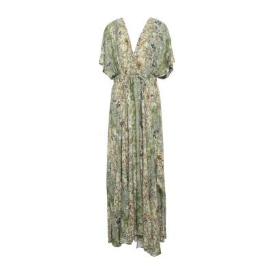 BLACK CORAL ロングワンピース&ドレス グリーン 40 レーヨン 100% ロングワンピース&ドレス