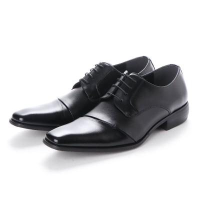 ネロ コルサロ NERO CORSARO ビジネスシューズ 本革 日本製 靴 メンズシューズ 紳士靴 抗菌 消臭 脚長 フォーマル 冠婚葬祭 ナナメチップ 外羽根 (ブラック)