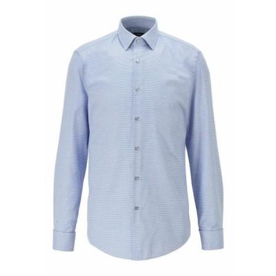 ボス メンズ ファッション Shirt - blue