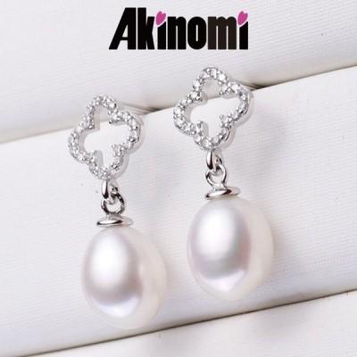 パール ピアス イヤリング 925 シルバー 淡水 真珠 ピアス レディース  Natural pearl earrings