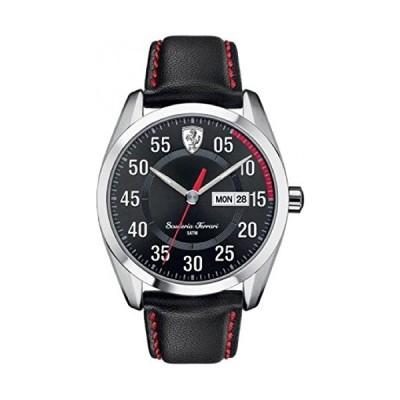 Scuderia Ferrari Watches 0830173 Men's Watch Black Leather Strap 並行輸入品