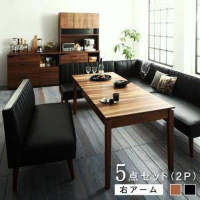 ダイニングテーブルセット 7人用 コーナーソファー L字 l型 ベンチ 椅子 おしゃれ 伸縮式 伸長式 安い 北欧 食卓 レザー 合皮 カウチ 5点