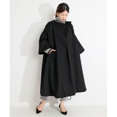 【イエナ】 ビーバーノーカラーコート◆ レディース ブラック 36 IENA