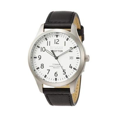[セイコーウォッチ] 腕時計 マッキントッシュフィロソフィー TROTTERシリーズ チタンモデル ホワイト文字盤 ブラックカーフバンド FCZK98