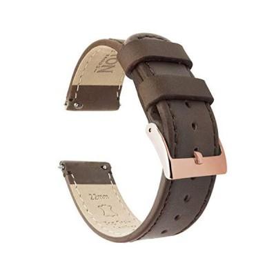 Barton クイックリリース - トップグレインレザー腕時計バンド - 幅選択可 - 16mm、18mm、19mm、20mm、21mm、22mm、2